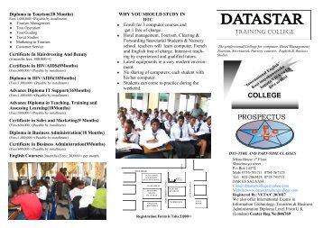 COLLEGE PROSPECTUS - Datastar Training College