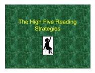 The High Five Reading Strategies - Westhampton Beach School ...