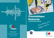 Chimiothèque Nationale - Ecole nationale supérieure de chimie de ...