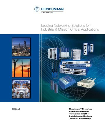 Leading Networking Solutions for Industrial & Mission Critical - Belden