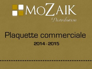 Catalogue Mozaik Distribution