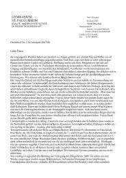 Elternbrief Nr - Privates Gymnasium St. Paulusheim, Bruchsal