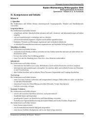 II. Kompetenzen und Inhalte