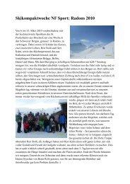 Skikompaktwoche NF Sport: Radons 2010 - Privates Gymnasium St ...