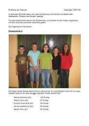 Problem des Monats Schuljahr 2007-08