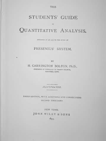 The Students' Guide in Quantitative Analysis - Free Ebooks Library