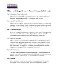 9 Steps to Writing a Research Paper at Concordia University Step 1 ...