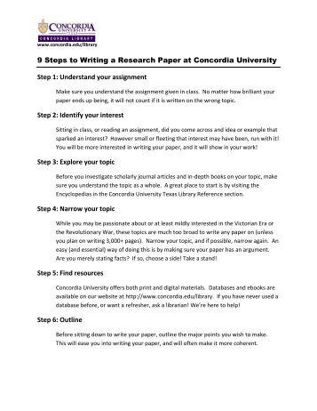 elementary steps research paper