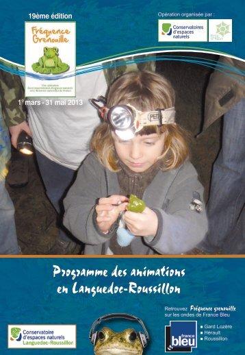 en Languedoc-Roussillon Programme des animations