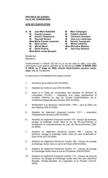 M. Jean-Marc Robitaille M. Marc Campagna M. Claude - Ville de ...
