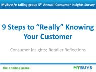 """9 Steps to """"Really"""" Knowing Your Customer - The e-tailing group"""