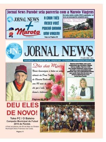 Jornal News Parobé - Edição 4 (15/05/2015)