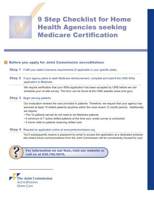 9 Step Checklist For Home Health Agencies Joint Commission
