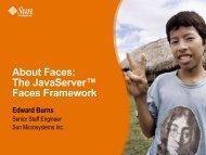 About Faces: The JavaServer™ Faces Framework Edward Burns