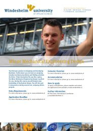 Minor Mechanical Engineering Design - Windesheim International