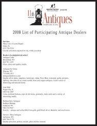 2008 List of Participating Antique Dealers 2008 List of Participating ...