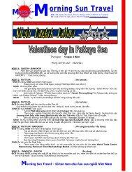 Tour Thai Lan kỉ Niệm Valentines Day tại Thai lan - Morning Sun ...
