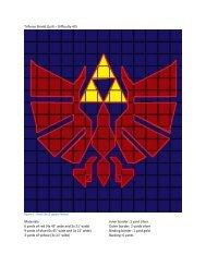 Triforce Shield Quilt - Fandom In Stitches