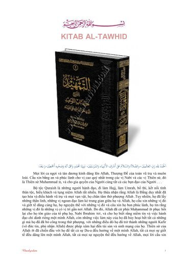 kitab al-tawhid - Chân Lý Islam
