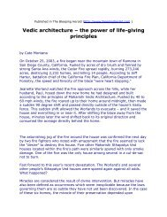 Vedic architecture – the power of life-giving principles