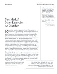 New Mexico's Major Reservoirs - Utton Transboundary Resources ...