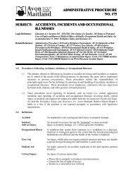 175-Accidents Incidents Illnesses.pdf - Avon Maitland District School ...