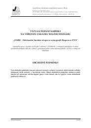Obchodní podmínky - Janáčkova akademie múzických umění v Brně
