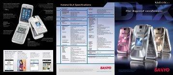 SANYO Katana DLX Brochure (PDF, 2.1 MB) - Kyocera ...