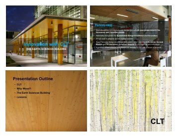 Innovation with CLT - WoodWorks