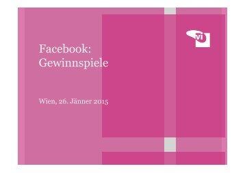 Facebook: Gewinnspiele