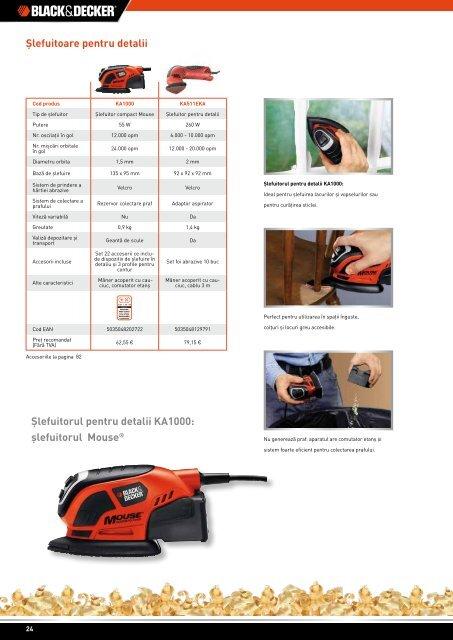 Catalog scule electrice și accesorii Black&Decker