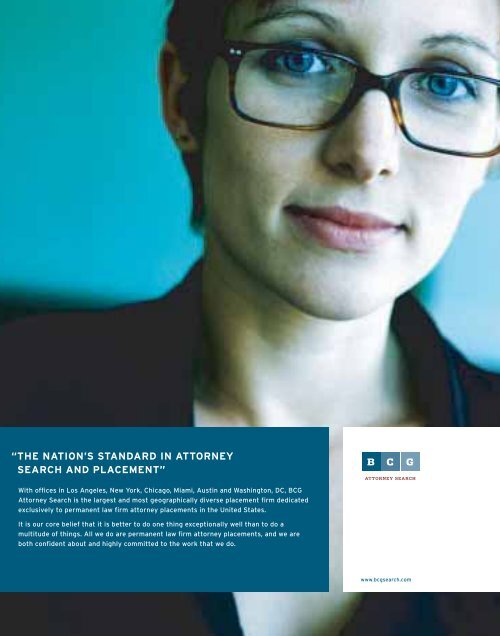 the nation's standard in attorney search and ... - Legal Recruiters