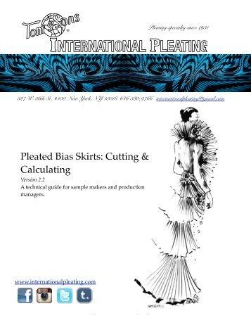 Pleated Bias Skirts - International Pleating