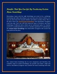 Purchasing Custom Home Furnishings from Bernadette Livingston Furniture