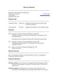 Shauna A. Morimoto - Department of Sociology and Criminal Justice