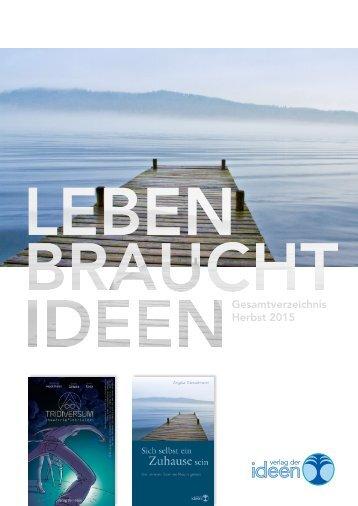 Verlag der Ideen – Gesamtverzeichnis Herbst 2015