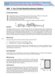 06K 1- bis 5-Feld-Stahlleichtbeton-Balken