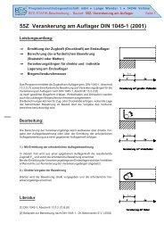 55Z Verankerung am Auflager DIN 1045-1 (2001)