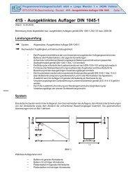 Ausgeklinktes Auflager DIN 1045-1 - PBS Programmvertriebs GmbH