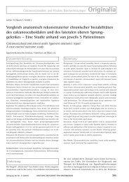 Vergleich anatomisch rekonstruierter chronischer Instabilitäten des ...