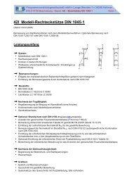 42I Modell-Rechteckstütze DIN 1045-1