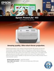 Epson Powerlite® 460