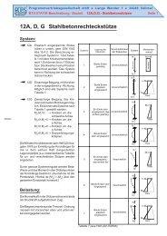 12A, D, G Stahlbetonrechteckstütze