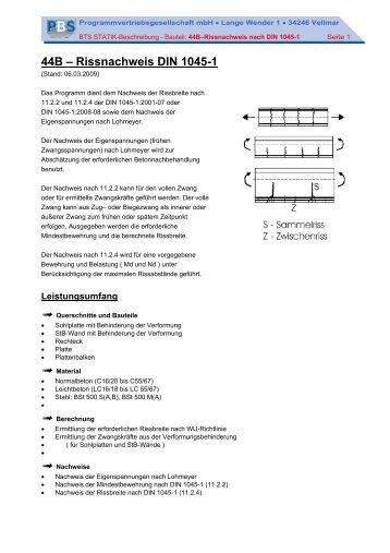 44B – Rissnachweis DIN 1045-1