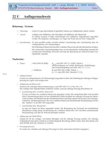 Literatur programmver for Stahlbau statik beispiele