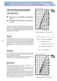 19Z Stahlfaserbetonplatte - PBS Programmvertriebs GmbH