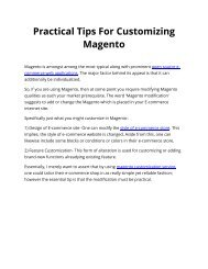 Practical Tips For Customizing Magento