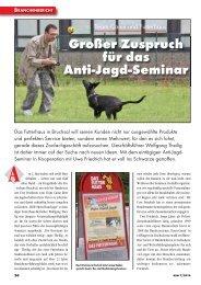 Großer Zuspruch für das Anti-Jagd-Seminar - TeamCanin
