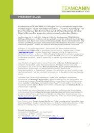 Pressemitteilung TEAMCANIN-Sommerfest 2011