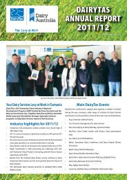 DairyTas aNNUaL rEPOrT 2011/12